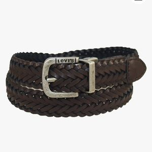 Levi's Braided Reversible Black To Brown Belt XS